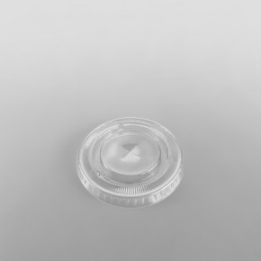 Somoplast Clear Flat, Straw Slot Lids for PET Cold Cups
