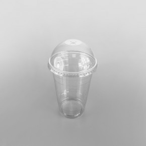 Somoplast Clear Domed Lid, Closed With Straw Slot For 400cc, 500cc, 660cc Cups