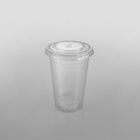 Somoplast Clear Straw Slot Lid for PP Plastic Drinking Cups 350cc