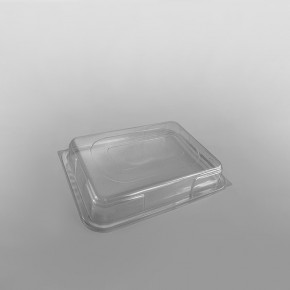 Clear Domed Lid For Plastic Rectangular Platter