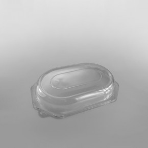 Clear Domed Lid For Octagonal Black Plastic Platter Base