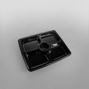 Sabert 5 Compartment Plastic Platter Base