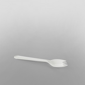 Plastic [149] White Sporks [2.5inch]