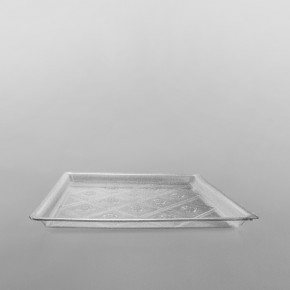 Plastic Square Premium Serving Tray Clear