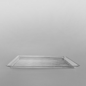 Plastic Rectangular Premium Serving Tray Clear