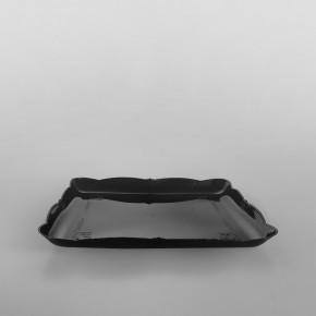 Plastic Presentation Trays Tulip Black