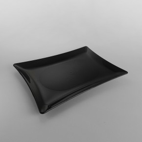 Plastic Rectangular Presentation Trays Black