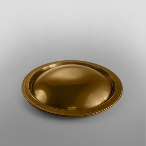 Plastic Gold Domed Presentation Plates [290 x 290 x 35 inner]