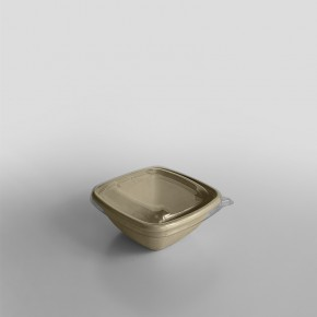 Sabert RPET LID To Fit Small Square Pulp Bowl