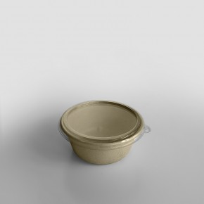 Sabert RPET LID To Fit Small Round Pulp Bowl [500ml]