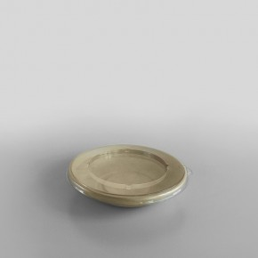 Sabert Flat RPET LID For To Fit Wide Round Pulp Bowls [750ml, 1000ml, 1500ml]