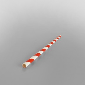 Red & White Stripe Paper Straws [200x6mm]