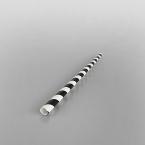 Black & White Stripe Paper Straws [205x7mm]