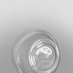 Somoplast PLA Clear Round Separate Lid Salad Bowl