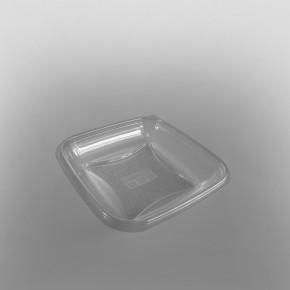GPI Crudipack Clear Square Salad Bowl Base [370cc]