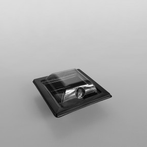 GPI Black Square Sushi Trays & Lids