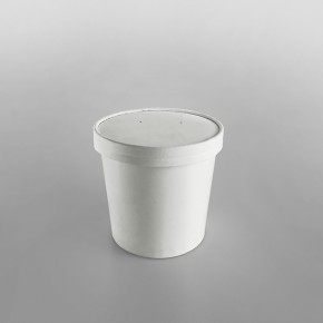 Go-Pak White Paper Soup Container