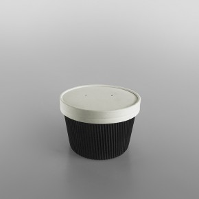 Black Ripple Soup Containers