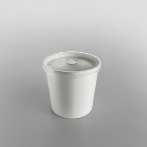 Go-Pak Plastic Lid For White Paper Soup Container
