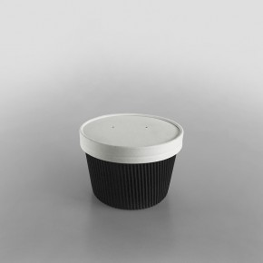 Go-Pak Lids For Ripple Black Soup Containers