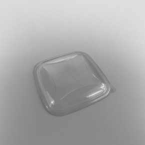 Clear Lid For GPI Crudipack Clear Square Salad Bowl