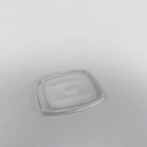 Somoplast Clear Flat Lids for Rectangular Salad Container