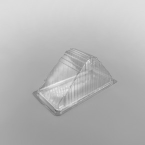Hinged Plastic Sandwich Wedge For Triple Sandwiches