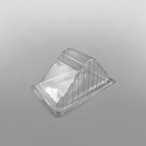 Hinged Plastic Sandwich Wedge For Triple Wide Sandwiches