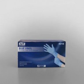 Vinyl Gloves Blue Powder Free