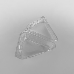 Plastic Clear Hinged Cake Slice Container