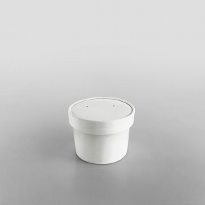 Solo White Paperboard Lid